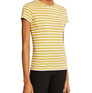 Vince yellow and white striped shirt